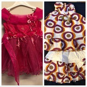 3 pcs dress, top, skirt